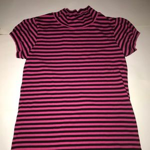 Tops - Pink and Black Striped Tee